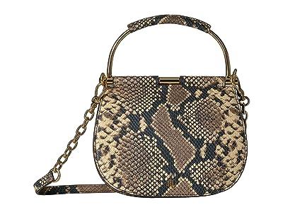 LAUREN Ralph Lauren Mason 20 Mini Satchel (Oatmeal Multi) Handbags