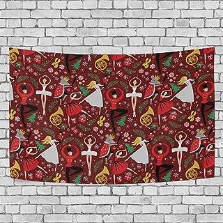 AUISS Nutcracker Ballet Christmas Xmas Tapestry Wall Hanging Bedding Wall Carpet Blanket Room Decor Rug Bedspread Kids Living Dorm Tablecloth Cover