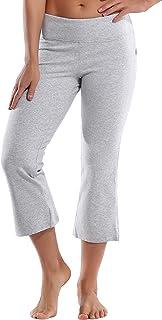 "BUBBLELIME 21"" Women's Yoga Capri Pants Bootleg Crop Flare Pants for Yoga Running Workout Outdoor Sports Moisture Wicking"