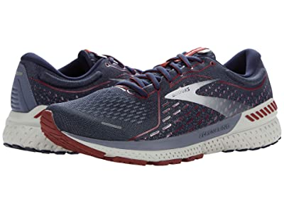 Brooks Adrenaline GTS 21 (Peacoat/Grey/Red) Men