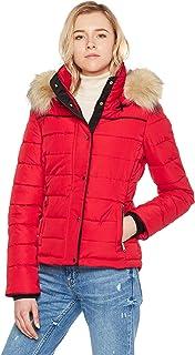 Women's Hooded Puffer Coat Short Quilted Jacket Full Zip...