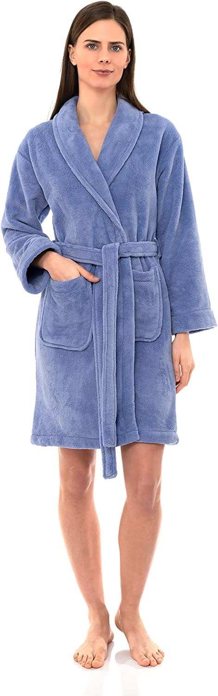 TowelSelections 2021 model Women's Robe Plush Bathrobe Fleece Short 70% OFF Outlet Spa
