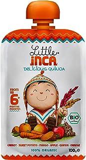 Little Inca-Quinoa Gut-Loving(Pack of 6 x100g) Happy Orange Puree - Smart Baby Food-Carrot, Sweet Potato, Mango, Apple, Quinoa