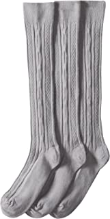 Jefferies Socks Girls School Uniform Knee-High Sock Pack of Three