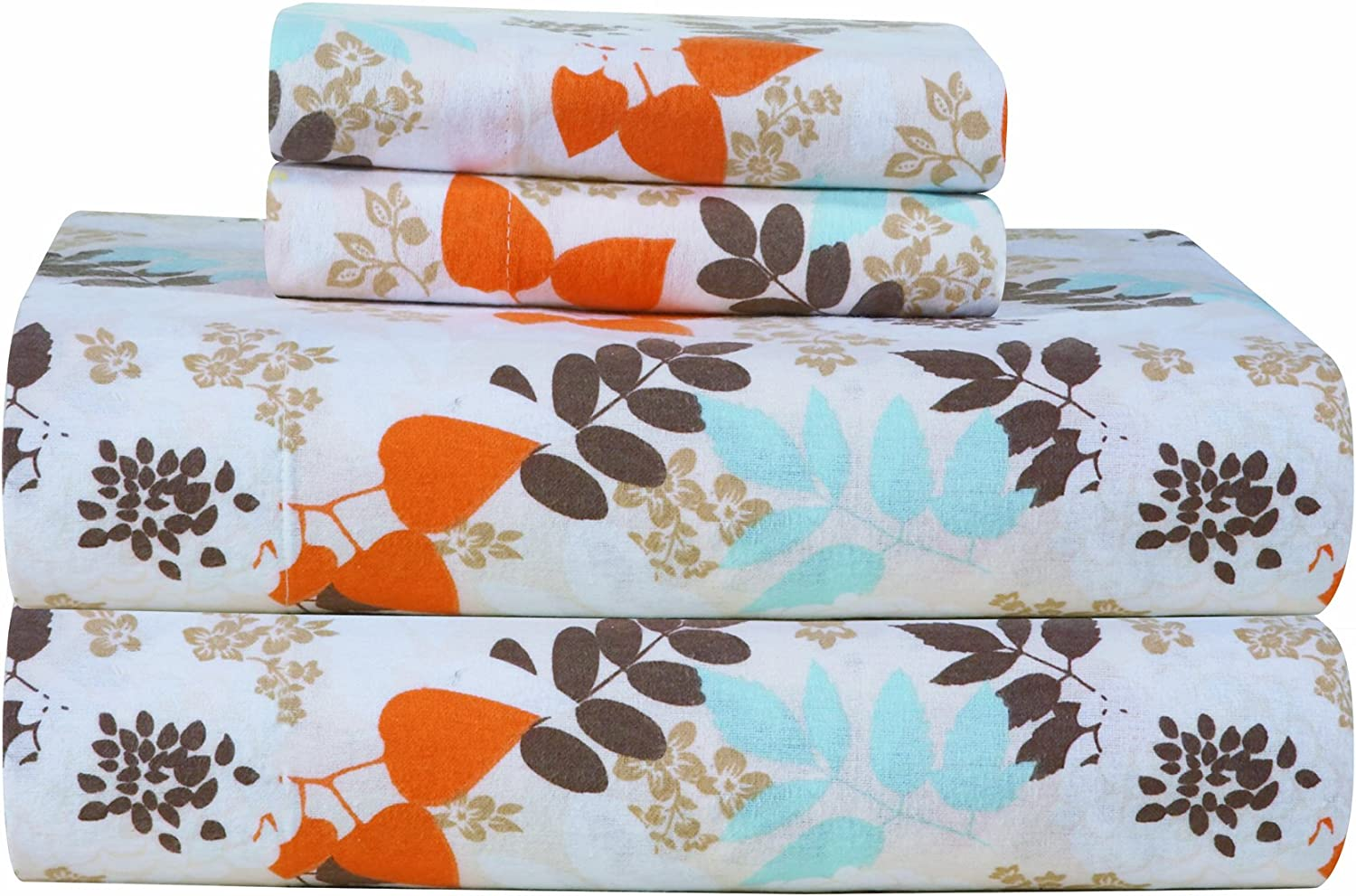 Amazon Com Pointehaven Heavy Weight Printed Flannel Sheet Set King Winter Breeze Home Kitchen