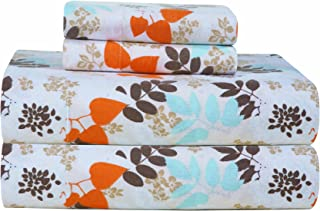 Pointehaven Heavy Weight Printed Flannel Twin Extra Long Sheet Set, Winter Breeze