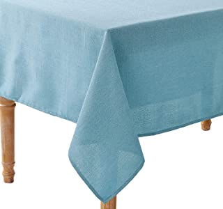 Violet Linen European Solid Linen Design Seats 6 to 8 Pepole, Rectangle, Polyester, Non-Stain, Spill-Proof and Water Resis...