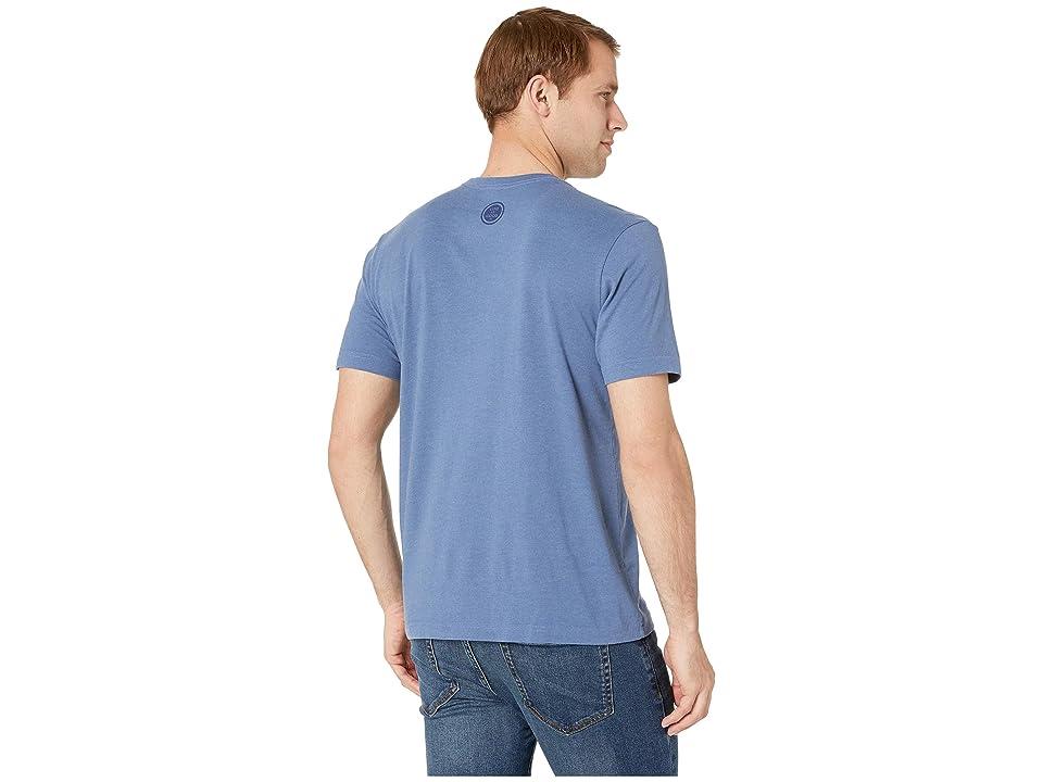 Life is Good LIG Guitar Dog Crusher Teetm (Heather Vintage Blue) Men's T Shirt