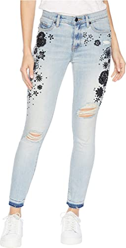 Denim Embellished Secret Garden Skinny Jeans
