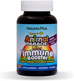 Animal Parade Kids Immune Booster Chewable - Tropical Berry Flavor 90 Tablets