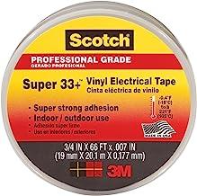 3M Scotch Super 33+ Vinyl Electrical Tape.75-Inch by 66-Feet, 4-PACK