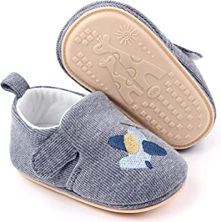 Sponsored Ad - LÄTT LIV Baby Boys Girls First Walking Shoes Toddler Knit Cartoon House Slippers Lightweight Infant Sneaker...