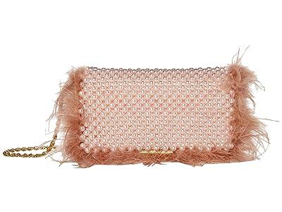 Loeffler Randall Mimi Beaded Clutch with Chain Strap (Blush Pearl) Handbags