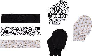 Hudson Baby Baby Headband and Scratch Mitten Set, 6-Piece