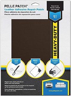 Pelle Patch - Parche Adhesivo de reparación para Cuero y Vinilo - Disponible en 25 Colores - Heavy-Duty 20cm x 28cm - Marrón
