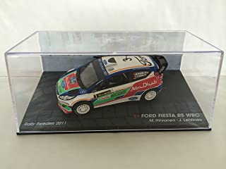 1:43 RALLY COCHE : FORD FIESTA RS WRC HIRVONEN / LEHTINEN RALLY SWRDEN 2011 IXO 1/43 RALLYE