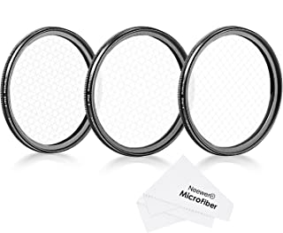 Neewer 58mm Rotated Star Filter Set for Canon Nikon Sony Olympus and Other DSLR Cameras, Includes: 58mm Rotated 4-Point, 6-Point and 8-Point Star Cross Filter with Microfiber Cleaning Cloth