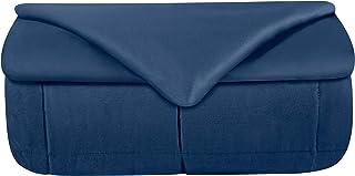 Odyseaco Gewichtsdecke Therapiedecke mit Bezug für Erwachsende und Kinder I Weighted Blanket als Einschlafhilfe und gegen Unruhe I gewichtete schwere Decke zum Besser Schlafen, 150x200 cm 11.3 kg