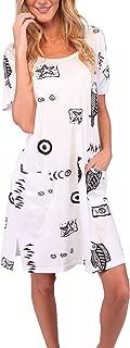 Sleepwear Nightgown Cotton Sleep Shirt Short Sleeve Tee Nightshirt Plus Size