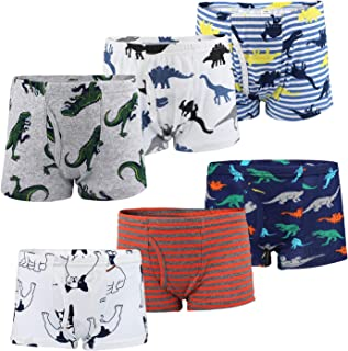 MooMoo Baby Toddler Boy Boxer Briefs Underwear Cotton Dinosaur Short 6 Packs 3-8Y
