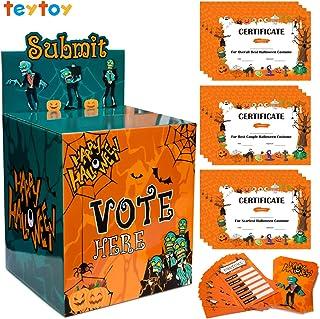 Halloween Party Supplies, Halloween costume contest Ballot Box 50 Voting Cards 12 Award Certificates Fun Halloween Party D...