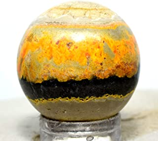 100 Carat Banded Bumble Bee Jasper Sphere Multicolor Natural Crystal Sparkling Mineral Polished Stone Ball - Indonesia