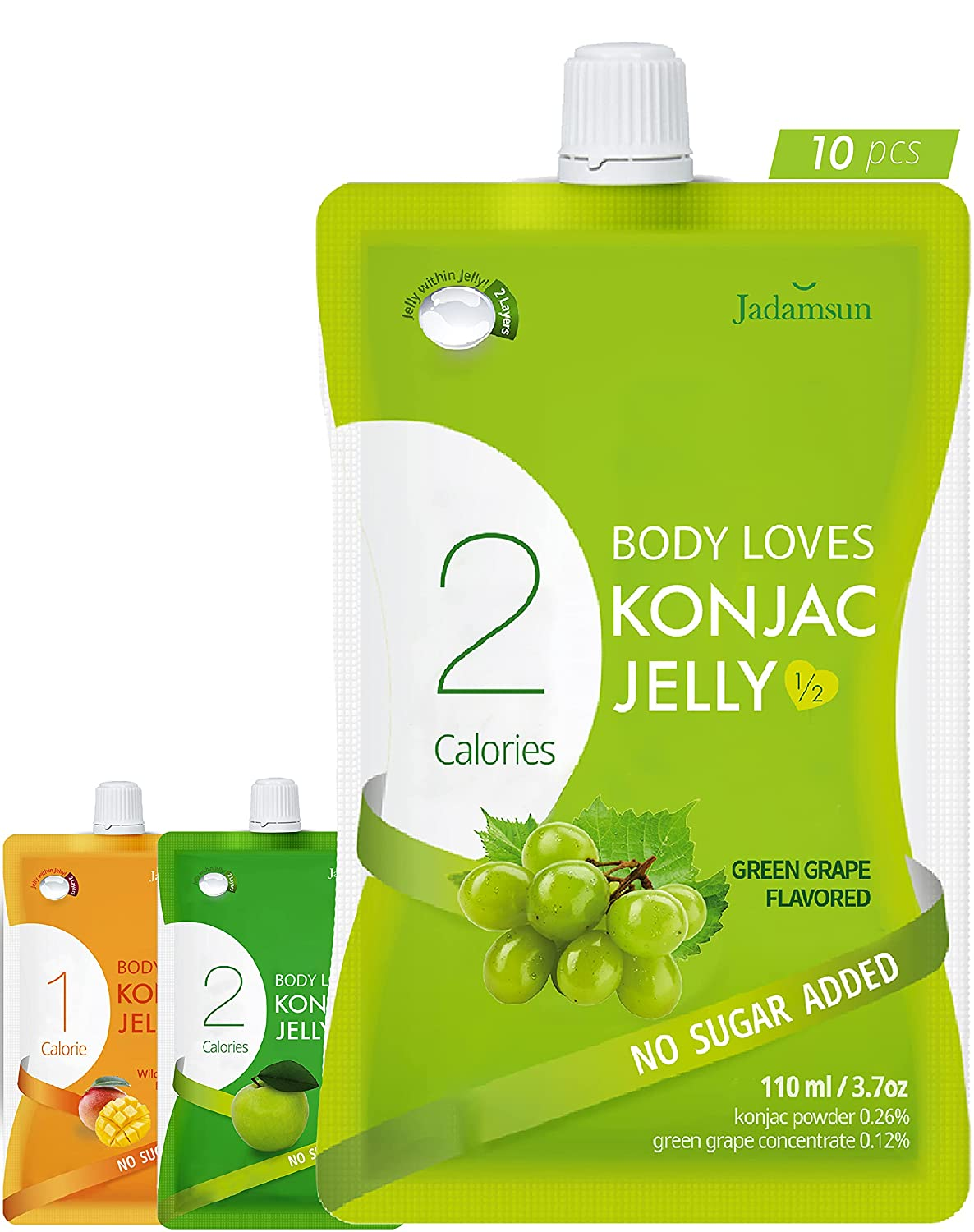 Body Loves Denver Mall Konjac Jelly 67% OFF of fixed price Grape 10pc . Calorie Healthy Snack Low