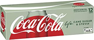 Coca-Cola Life Soda Soft Drink, 12 Fl Oz, Pack of 12