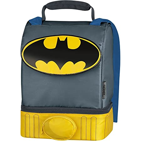 Funtainer Water Bottle Dual Compartment Insulated Batgirl Lunch Box DC Batgirl Thermos Lunch Box and Funtainer Set for Kids Superhero Girls Stickers