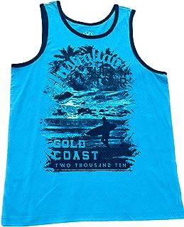 & Co Young Mens Tank Top 100% Cotton Scuba Blue Large