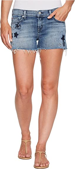 Hudson Kali Cut Off Star Embroidered Shorts in Stargazing