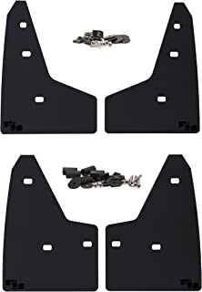 RokBlokz Mud Flaps for 2016+ Ford Focus RS. Set of 4. Includes All Hardware and Instructions. (Black with Black Logo)