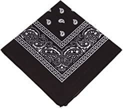 BOOLAVARD 1s, 6s, 9s or 12 Pack Cowboy Bandanas with Original Paisley Pattern