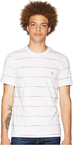 Short Sleeve Space Dye Stripe