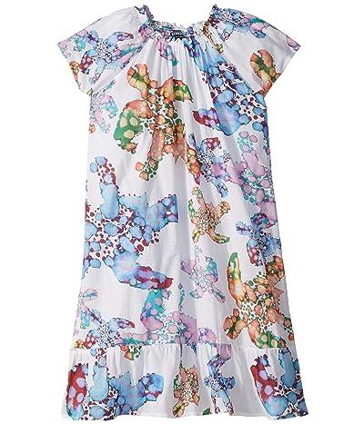 Vilebrequin Kids Gizelle Watercolor Turtles Dress (Toddler/Little Kids/Big Kids) (White) Girl