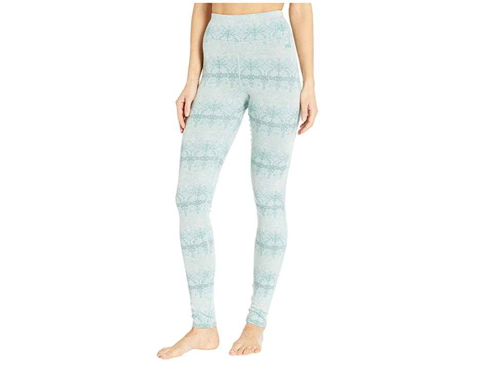 Helly Hansen Merino Mid Graphic Pants (Blue Haze/Frost) Women