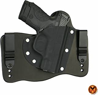 FoxX Holsters Compatible for Smith & Wesson M&P Shield M2.0 9/40 with Integrated Laser IWB Hybrid Holster Tuckable, Concealed Carry Gun Holster