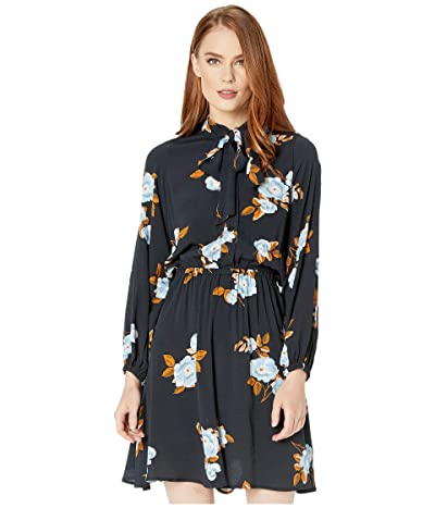 Rachel Pally Crepe Dana Dress (Black Flower) Women