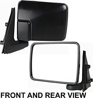 Kool Vue Set of 2 Mirror Manual for 87-89 Dodge Ram 50 Left /& Right Non-Heated