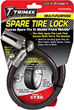 """Trimax ST30 Trimaflex Spare Tire Cable Lock (Round Key) 36"""" x 12mm"""