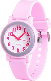 Wolfteeth Analog Grade School Girls Kids Boys Wrist Watch with Second Hand Cute Small Face White Dial Water Resistant Toddler Watch 3058