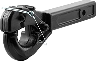 CURT 48005 Pintle Hook Hitch, Fits 2-Inch Receiver, 10,000 lbs. GTW, Fits 2-1/2-Inch Lunette Ring