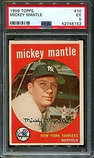 1959 TOPPS #10 MICKEY MANTLE YANKEES HOF PSA 5 B2697060-153