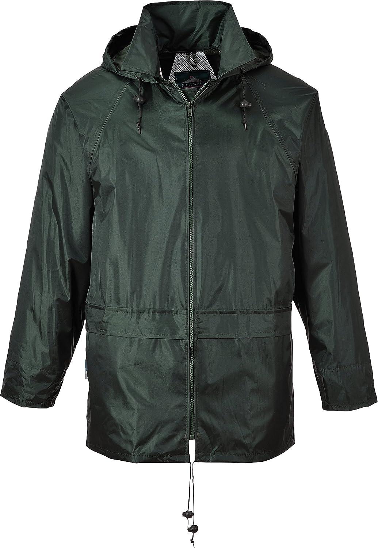 Portwest Men's Classic Rain Jacket 4XL (Chest 56-58in) - Olive