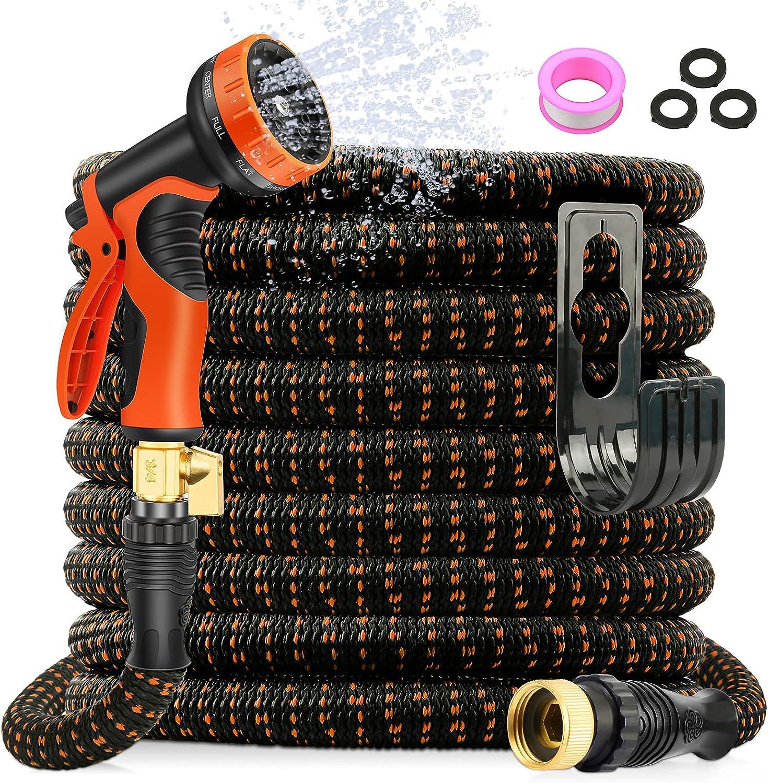 Axuan 50ft 10-Spray Nozzle  Expandable Garden Hose $12.99 Coupon