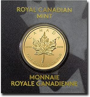 CA 1 Gram Gold Canadian Maple Leaf (Maplegram25™) In Assay 50 Cents Brilliant Uncirculated