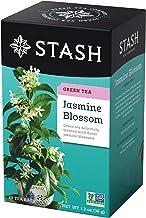 Stash Tea Green Tea (contains caffeine) - Jasmine Blossom 20 foil tea bags (Pack of 3)