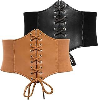 Lace-up Cinch Belt Tied Corset Elastic Waist Belt