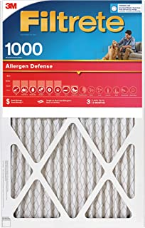 Filtrete 20x20x1, AC Furnace Air Filter, MPR 1000, Micro Allergen Defense, 4-Pack