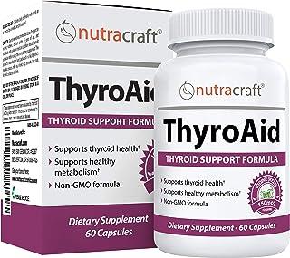 ThyroAid Ultimate Thyroid Support - Natural Herbal Thyroid Formula with Iodine (Kelp), Ashwagandha (Withani...